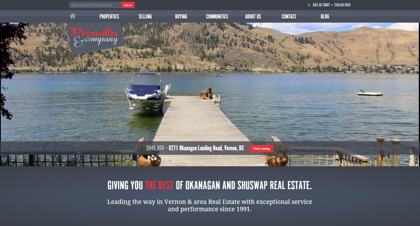 OkanaganHomes.com Home Page