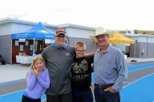 Ginger Demetrick, Craig Demetrick, Aiden Demetrick, Larry Edwards - Canadian Cancer Society, Relay for Life 2016